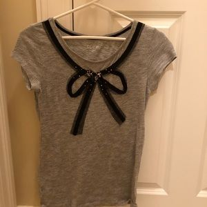 Ann Taylor Loft bow front T-shirt